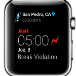 apple watch app - break violation