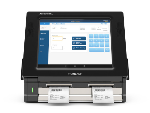 CrunchTime's KitchenSync App, integrated with TransAct's new AccuDate XL food safety terminal, provides an innovative platform that revolutionizes food preparation, food management and other critical back-of-house processes. (Photo: Business Wire)