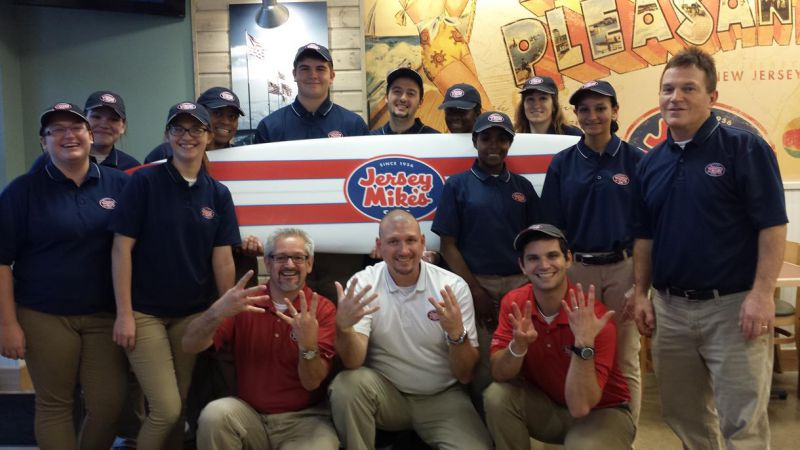 Started in 1956, Jersey Mike's now has 1,300 restaurants open and under development nationwide. In just three years, the company has nearly doubled in size. A 2014 Technomic report ranked Jersey Mike's in the top five fastest-growing restaurant chains with sales above $200 million.